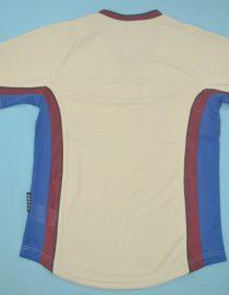 Shirt Back Blank, Barcelona 1999-2000 Away Grey Short-Sleeve