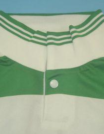 Shirt Collar Front, Celtic Glasgow 1987-1989 Home Short-Sleeve Kit