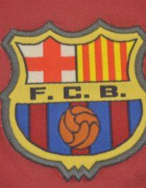 Shirt Barcelona Emblem, Barcelona 1998-1999 Home Short-Sleeve