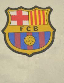 Shirt Barcelona Emblem, Barcelona 1999-2000 Away Grey Short-Sleeve