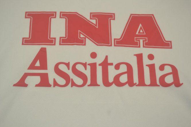 Shirt INA Assitalia Emblem, AS Roma 2000-2001 Away Short-Sleeve Kit