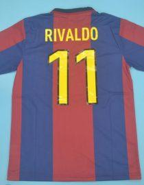 Rivaldo Nameset, Barcelona 1998-1999 Home Short-Sleeve