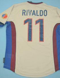 Rivaldo Nameset, Barcelona 1999-2000 Away Grey Short-Sleeve