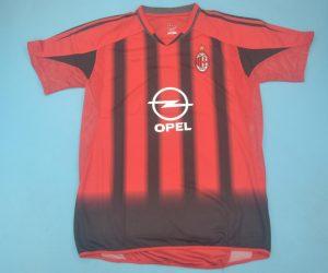 Shirt Front, AC Milan 2004-2005 Home Short-Sleeve Kit