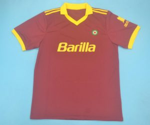 Shirt Front, AS Roma 1991-1992 Home Short-Sleeve Kit