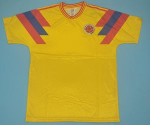 Shirt Front, Colombia 1990 Away Short-Sleeve Kit