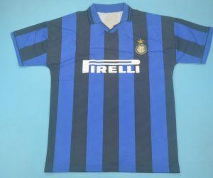 Shirt Front, Inter Milan 1995-1996 Home Short-Sleeve Kit