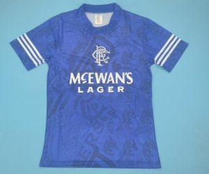 Shirt Front, Rangers 1994-1996 Home Short-Sleeve Kit