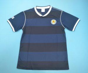 Shirt Front, Scotland 1986 Home Short-Sleeve Kit