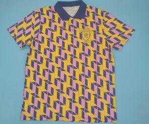 Shirt Front, Scotland 1988-1989 Third Short-Sleeve Kit