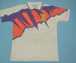 Shirt Front, Scotland 1991-1993 Away White Short-Sleeve Kit