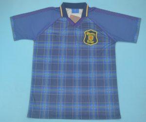 Shirt Front, Scotland 1994-1996 Home Short-Sleeve Kit