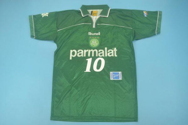 #10 Closeup, Palmeiras 1999 Home Short-Sleeve Kit