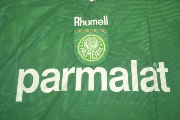 Shirt Parmalat Logo, Palmeiras 1999 Home Short-Sleeve Kit