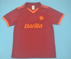 Shirt Front, AS Roma 1992-1994 Home Short-Sleeve Kit