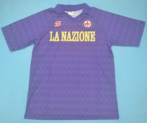 Shirt Front, Fiorentina 1989-1990 Home Short-Sleeve Kit