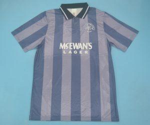 Shirt Front, Glasgow Rangers 1994-1995 Third Purple Short-Sleeve Kit