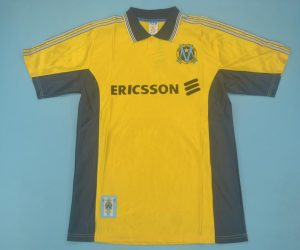 Shirt Front, Olympique Marseille 1998-1999 Third Yellow Short-Sleeve