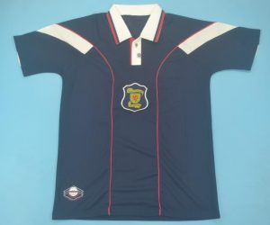 Shirt Front, Scotland 1996-1998 Home Short-Sleeve Kit